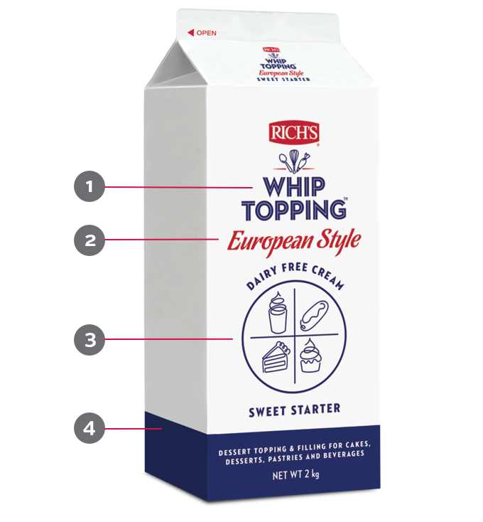 Whip Topping Packaging 3